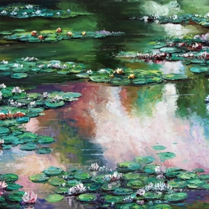 'Lilies At Dusk' By Graham Denison. SOLD