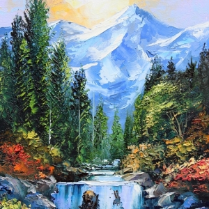 'Mountains Rivers and Trees' By Graham Denison. SOLD