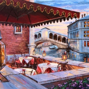 'Rialto Table For Two' By Graham Denison. SOLD