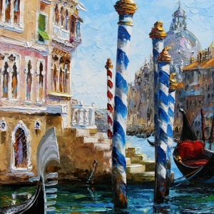 'O To Be In Venice' By Graham Denison. SOLD