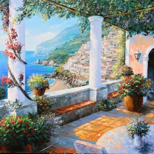 'Positano View' By Graham Denison. SOLD