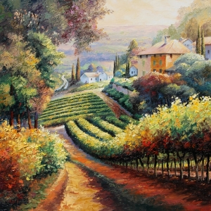 'Wine Country' By Graham Denison. SOLD