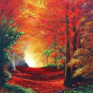 'Forest Trail In Autumn' By Graham Denison. SOLD