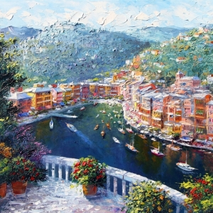 'La Perla Portofino' By Graham Denison. Original SOLD