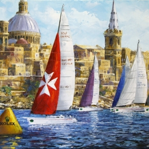 Maltese Crossing. By Graham Denison. SOLD