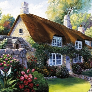 'An English Country Garden' by Graham Denison. SOLD
