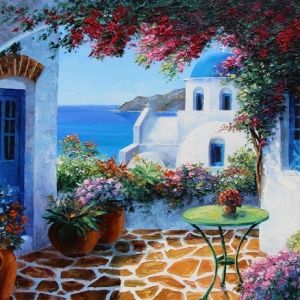 Santorini Siesta By Graham Denison. SOLD