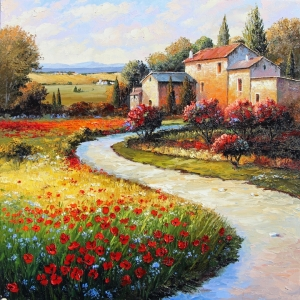 'A Tuscan Farmhouse' By Graham Denison. SOLD