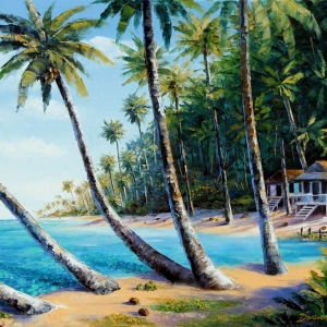 'Pearl Beach' by Graham Denison. SOLD