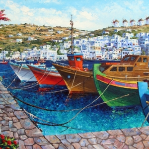 'Memories Of Mykonos' By Graham Denison. SOLD