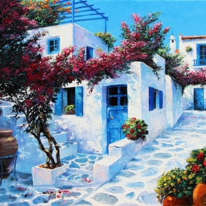 'Happily Lost In Mykonos' By Graham Denison. Available