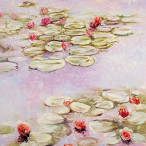 'Lilies In Lilac' by Graham Denison. SOLD