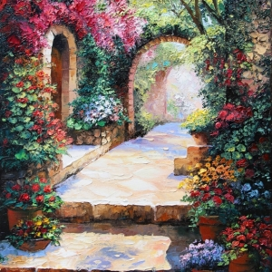'Through The Archway' By Graham Denison. SOLD