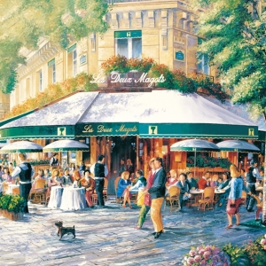 'Cafe Society'(Paris) by Graham Denison. SOLD. Prints available