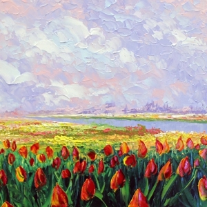 'Tulips From Amsterdam' by Graham Denison. SOLD