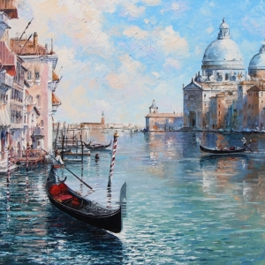 'Anniversary In Venice' By Graham Denison. SOLD