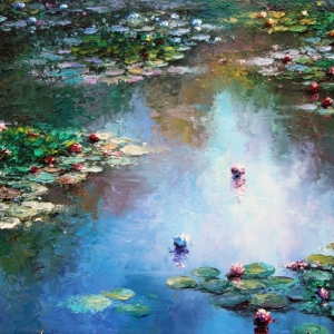 'Shades Of Monet's Garden' By Graham Denison. Available
