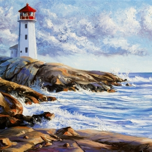 'Peggy's Cove' MN. By Graham Denison. Original SOLD
