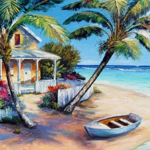 'Caribbean Escape' By Graham Denison. Original SOLD