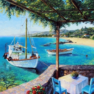 'Taverna by The Sea' By Graham Denison. Available