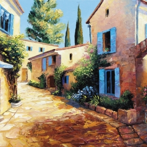 'Village En Provence' by Graham Denison. SOLD