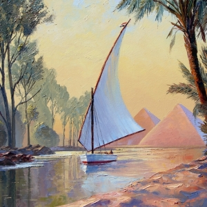 'Felucca On The Nile' By Graham Denison. SOLD