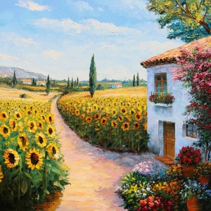 'Sunflowers Of Jerez' By Graham Denison. SOLD