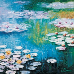 'Lilies In Blue' by Graham Denison. Original SOLD