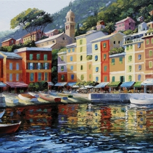 'Upon Reflection' Portofino by Graham Denison. SOLD