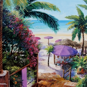 'Shell Beach St.Barts' by Graham Denison. SOLD