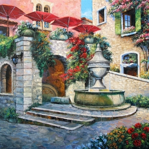 'St Paul De Vence' By Graham Denison. Available