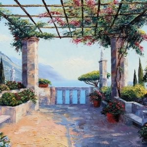 'Riviera View'  by Graham Denison. SOLD