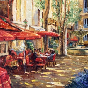 'Cafe Aix En Provence' By Graham Denison. SOLD
