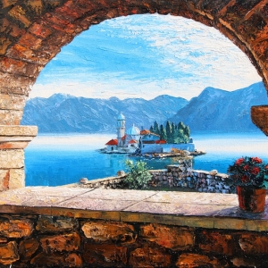 'Bay Of Kotor' By Graham Denison. SOLD