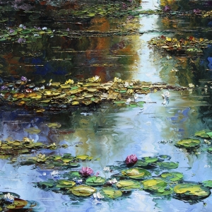 Lilies Untitled. By Graham Denison. SOLD