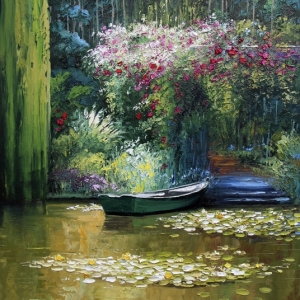 'A Moment In Monet's Garden' By Graham Denison. SOLD