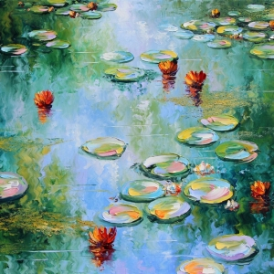 'Lilies On The Baltic' by Graham Denison. SOLD