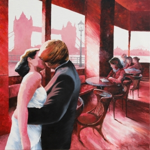 'The Kiss London' by Graham Denison. Original available