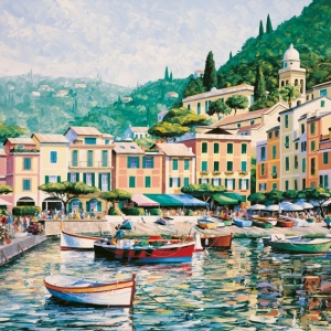 'Sunkissed Portofino' by Graham Denison. Original & prints available
