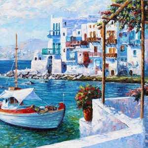 A Moment In Mykonos By Graham Denison. SOLD