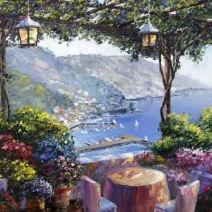 'Riviera Balcony' by Graham Denison. SOLD
