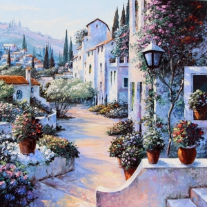 'Mediterranean Morning' By Graham Denison. SOLD