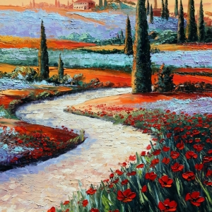 'Trails Of Tuscany' by Graham Denison. Original SOLD