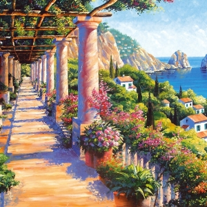 'Capri Colonnades' by Graham Denison. SOLD. Prints available