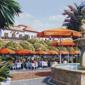 'Orange Square' (Marbella) by Graham Denison. SOLD. Prints available