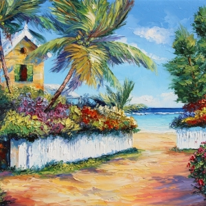 'Caribbean Hideaway' By Graham Denison. SOLD