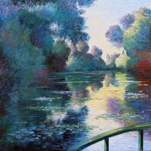 Misty Morning In Giverny. By Graham Denison. SOLD