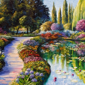 'A Walk In Giverny' by Graham Denison. SOLD