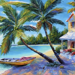 'Little piece Of Paradise' By Graham Denison. SOLD
