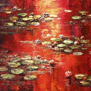 'Red Lilies' by Graham Denison. SOLD